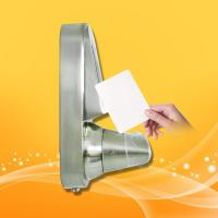 China Safety RFID Card Door Lock System Zinc Alloy With Chrome Plating Material wholesale