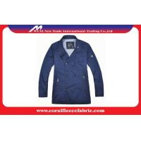 China Breathable Blue Long Trench Jacket / Mens Windbreaker Jackets with Polyester wholesale