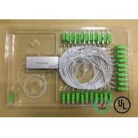 China 1X64 Single Mode Fiber Coupling 0.9mm package D Input and output Fiber Length 1m wholesale