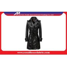 China Ladies Leather Long Trench Jacket Women Dust Coats wholesale