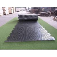 China Customized Size Cattle Rubber Flooring Sheets , Black Livestock Stall Mats on sale