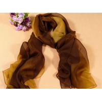 China 2013 new fashion yellow and brown gradient color Hand Painted Silk Scarf/chiffon scarves shawls wholesale