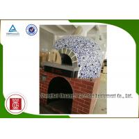 China Napoli Style Italy Gas Pizza Oven Lava Rock Gas Heating Electricity Saving wholesale