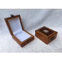 China Metal Locked Rectangular Gift Box For Watches Collection , Solid Red Wooden wholesale