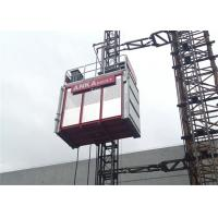 China Building Construction Hoist Elevator , Twin Cage Material Lifting Equipment 2 Ton Capacity wholesale