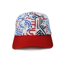 Buy cheap High Quality 5 Panel Caps sublimation pattern camper cap with polyester with from wholesalers