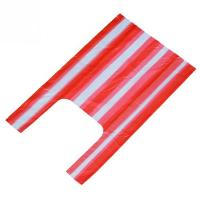 China 30 Pcs / Roll Striped Shopping Bags , Hot Stamping Supermarket Plastic Bags wholesale