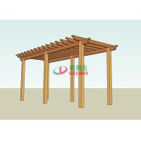 DIY wood plastic composite pergola construction for outdoor / 6.6mx2.8m / OLDA-5014