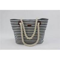 Buy cheap Ladies Striped Baby Diaper Bag With Rope Handle Stain Resistant And Durable from wholesalers