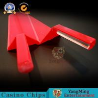China Classic Casino Game Accessories Red Color Poker Playing Card Paddle For Gambling Table on sale