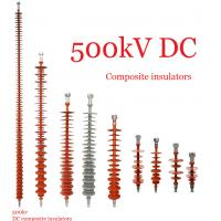 China Composite Polymeric Silicone Rubber Insulator 500kv Creepage Distance 17600mm wholesale