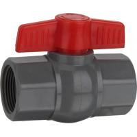 China HJ PVC pipe fitting plastic compact ball valves with socket or thread on sale