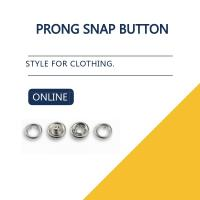China Dull Silver Bulk Buttons Prong Snap Button For Clothing Decorative Snap Garment Buttons on sale