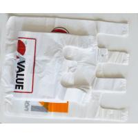 China Industrial Disposable Plastic Grocery Bags Transparent Button Closure Side Seal wholesale
