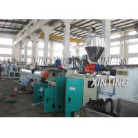 China Plastic PE Pipe Production Line High Output Speed Adjustable Lower Energy Consumption wholesale