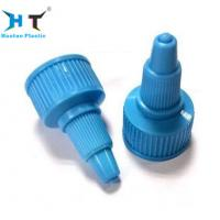 China Blue Plastic Twist Top Bottle Caps Closure Ribbed Surface Easy Operating wholesale