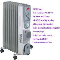 China 7-Tin  9-Tin  11-Tin  13-Tin Oil Heater with Fan Timer on sale