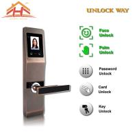 China Face And Fingerprint Entry Door Lock With With Anti Peephole Structure wholesale