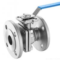 China DIN 2pc Floating Type Stainless Steel Ball Valve With ISO5211 Direct Flange End Cf8m/SS ball valve/150LB wholesale