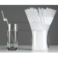 China Disposable cute plastic white straight drinking straw, PLA individually wrapped drinking Straws, PLA straws disposable wholesale
