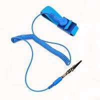 China cleanroom coiled cord static dissipative ESD antistatic wrist band on sale