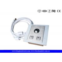 China Panel Mounted Industrial Pointing Device Stainless Steel Trackball Left Right Click Buttons wholesale