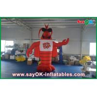 China 4m Oxford Clothes Red Custom Inflatable Products Model Langouste Figure For Advertisement on sale