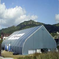 China Giant PVC Curved Tent , Unique Large Marquee Tent Steel Sheet wholesale