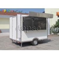 China Stable Snack Mobile Cooking Trailer Non - Slip Flooring For Tourism Spots wholesale