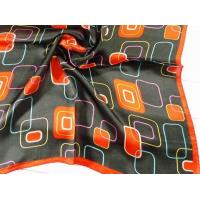 China 2013 Fashion  100% silk small Square Silk Scarf/black and red scarves for women 53*53CM wholesale
