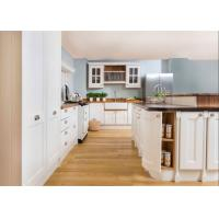 China Paint Door Finish Solid Wood Kitchen Cabinets Solid Wood Material Blum / Dtc Hardware wholesale