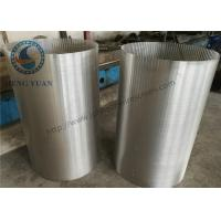 China 304 SS Johnson Screens Groundwater And Wells V Shape For Drum FIlter wholesale