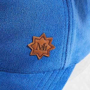 China Autumn Winter Polar Fleece Baseball Cap With Debossed Logo Leather Patch wholesale