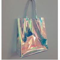 China Rainbow Laser Hologram Travel Cosmetic Handbag Rainbow Laser PVC Tote Bag Rainbow Laser Shoulder Bag wholesale