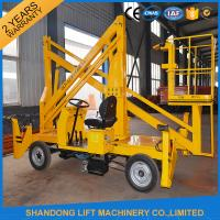China Automatic 4 Wheels Articulated Vehicle Mounted Boom Lift for 8m - 14m Aerial Work on sale