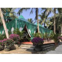 China Green PVC Fabric Cover High Peak Tents with Anodized Aluminum Frame wholesale