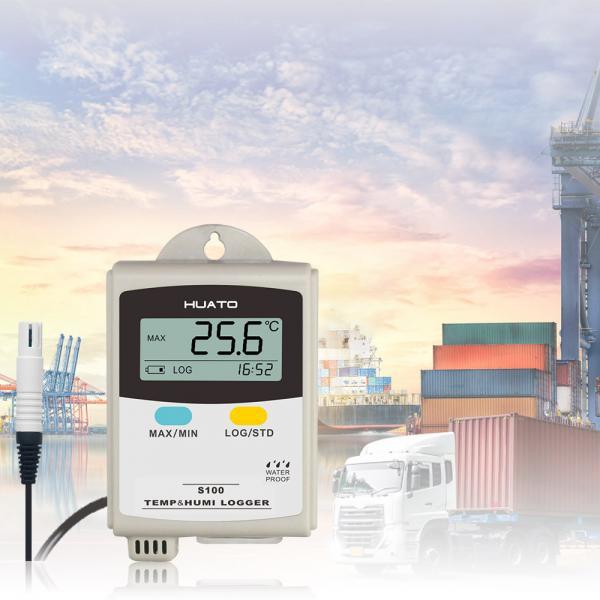 Warehouse Temperature And Humidity Data Logger : External sensor temperature recorders data loggers
