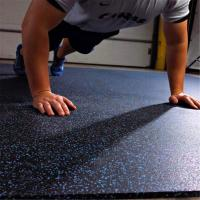 China Long service life rubber flooring tiles with color speckles for fitness facility wholesale