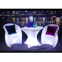 China PE Swimming Pool Outdoor Furniture With LED Lighting Customized Colors wholesale