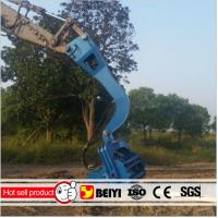 China Beiyi Small hydraulic vibratory pile hammer for 6 meters pile sheet, 20-30 tons excavator pile hammer on sale