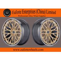 Buy cheap 20inch Gloss black machined face 1-PC forged wheels from wholesalers