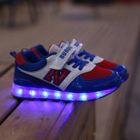 China fashion new style children led shoes sport brand name high quality, eight color led light kids shoes for boys girls on sale