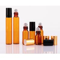 China Custom Cosmetic Empty Roll On Bottle 10ml Clear Glass For Perfume Essential Oil wholesale