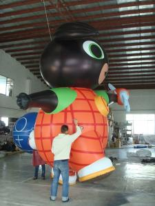 China Custom Shaped 10m Diameter Air Filled Balloons 0.2mm PVC Material With Blower wholesale