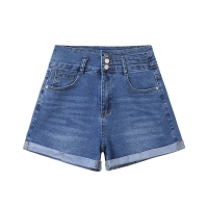 China Leg Straight 4XL XXXXL Zipper Denim Shorts For Women wholesale