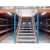 China Double Storey Warehouse Pallet Rack Mezzanine , Cargo Stock Heavy Duty Shelving wholesale