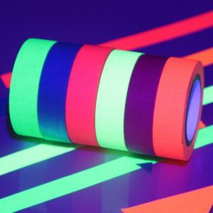 China UV React Black light Neon Luminous Adhesive Tape 6 Colors A Set Shrink Wrapped wholesale