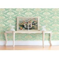 China High End Flower Feature Wall Wallpaper Fireproof With European Style wholesale