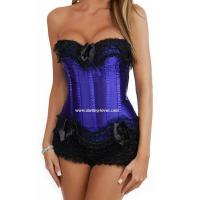 China Sexy Blue lace Corset Bustier top and skirt,DL7071-3 on sale
