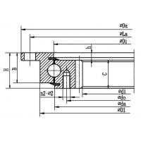 China Four point contact ball slewing bearing (with outer flange and internal gear type) wholesale